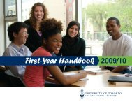 First-Year Handbook 2009/10 - Woodsworth College - University of ...