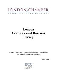 Which ONE of the following best describes your business - London ...