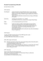 Protokoll Vorstandssitzung 29.06.2010