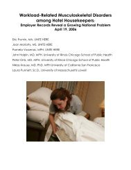 Workload-Related Musculoskeletal Disorders among Hotel ...