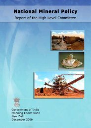 National Mineral Policy 2006 - Department of Mines