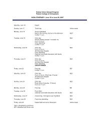 Sample Clinic Abroad trip itinerary - Palmer College of Chiropractic