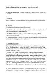 Projekt-Beispiel fürs Kompendium von Michaela Süß - Schulen in ...