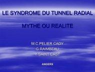 Le syndrome du tunnel radial : mythe ou réalité