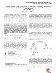 Simulation and Analysis of AODV routing protocol in VANETs