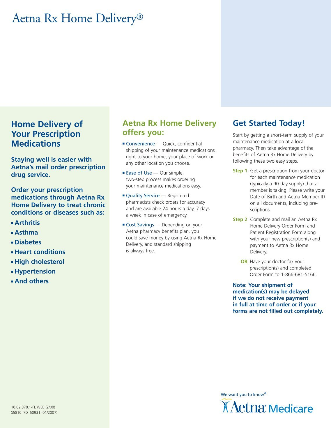 Aetna Rx Home Delivery | Home Review