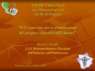 ICF come base per la pianificazione del progetto ... - USP di Piacenza