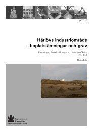 Härlövs industriområde - Regionmuseet Kristianstad