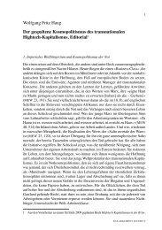 Wolfgang Fritz Haug Der gespaltene Kosmopolitismus des ...