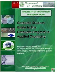 Graduate Student Guide - UPRM