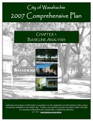 Chapter One - Baseline Analysis - City of Waxahachie