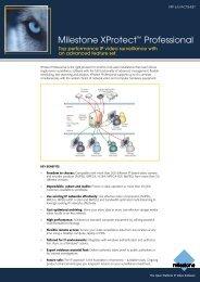 Milestone XProtect™ Professional - Astaa Technologies