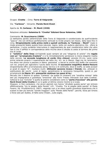 Gruppo: Civetta - Cima: Torre di Valgrande Via ... - Il Monodito