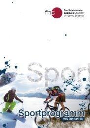 Sportart - Fachhochschule Salzburg