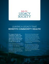 download the Legacy Society brochure - Reh-Fit Fitness Centre