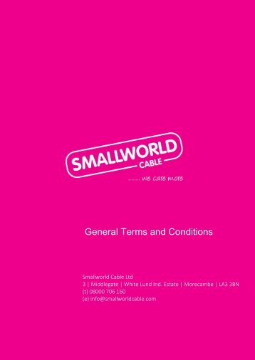 General Terms & Conditions - Smallworld