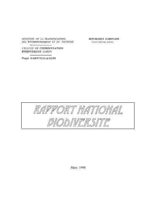 CBD First National Report - Gabon (French version)