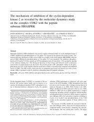 The mechanism of inhibition of the cyclin‐dependent kinase‐2 as ...