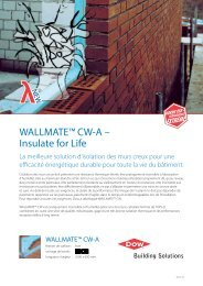 WALLMATE™ CW-A – Insulate for Life - Dow Building Solutions