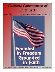 July 4 - St. Pius X Catholic Community