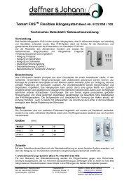 Temart FHSTM Flexibles HängesystemBest.-Nr ... - Deffner & Johann
