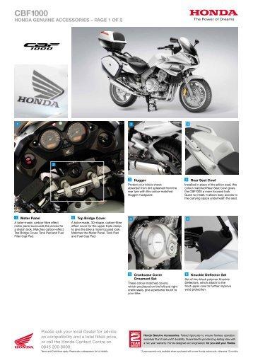 Download the brochure - Honda