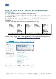 ATC-koder deres opbygning og anvendelse - Sygehusapoteket ...