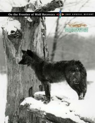 2005 ANNUAL REPORT - International Wolf Center