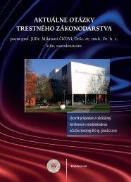 aktuálne otázky trestného zákonodarstva - Paneurópska vysoká škola