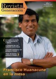 Francisco Huanacune en la mesa - Generaccion.com