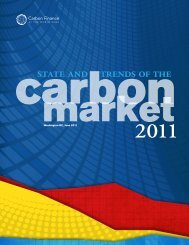 State and Trends of the Carbon Market 2011 - World Bank Internet ...