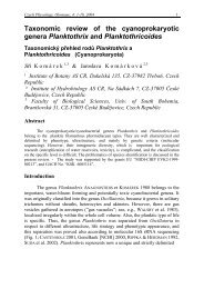 Taxonomic review of the cyanoprokaryotic genera Planktothrix and ...