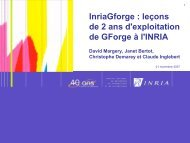 Présentation de l'INRIA - Les JRES 2007 à Strasbourg