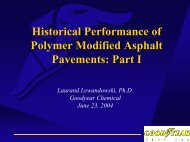 Historical Performance of Polymer Modified Asphalt Pavements: Part I