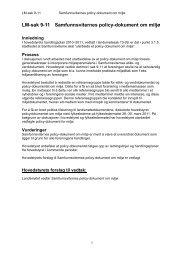 LM-sak 9-11 Samfunnsviternes policy-dokument om miljø