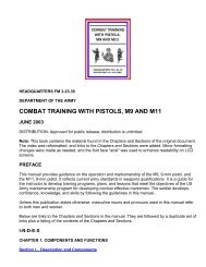 The US Army's: Combat Training With Pistols M9 And M11 - FM 3 ...