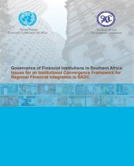 Governance of Financial Institutions in Southern Africa: Issues for an ...