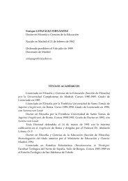 Curriculum - Facultad de Teología San Dámaso