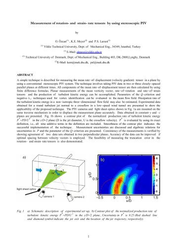 1 Measurement of rotation- and strain- rate tensors by using ...