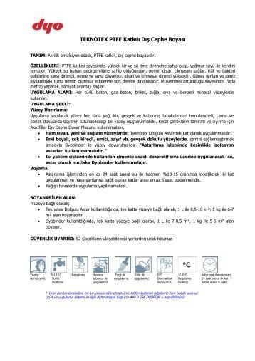 TEKNOTEX PTFE Katkılı Dış Cephe Boyası - Dyo