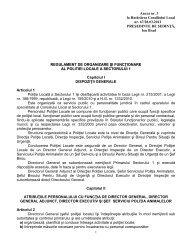 Anexa 3 la HCL nr. 67 / 2012 - Primăria Sectorului 1