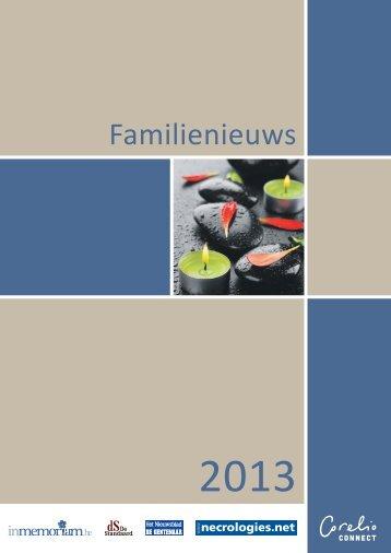 Familienieuws in de Corelio kranten - Het Nieuwsblad