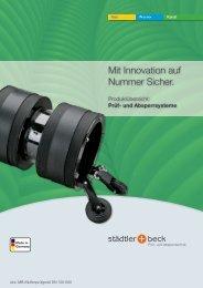 Mit Innovation auf Nummer Sicher. - städtler + beck