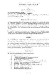 Statuten des Vereins - Buch13