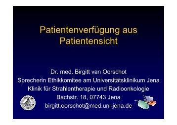 Dr. Birgitt van Oorschot - Katholische Akademie in Berlin eV
