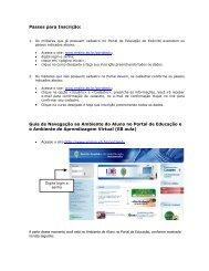 Passos para Inscrição: Guia de Navegação ao Ambiente do Aluno ...