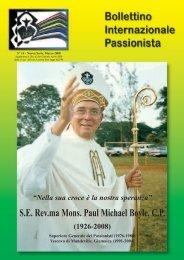 SE Rev.ma Mons. Paul Michael Boyle, CP (1926 ... - Passio Christi