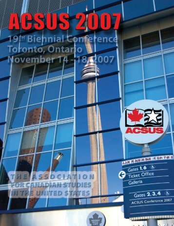 recognitions - The Association for Canadian Studies in the United ...