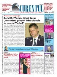 """eful IPJ Vaslui, Mihai Carp: """"Nu exist` grupuri infrac]ionale ... - Curentul"""