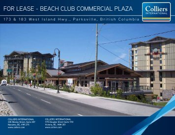 for lease - beach club commercial plaza - Colliers International